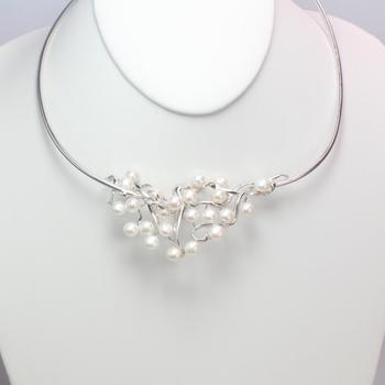 38.10g Silver Necklace With Pearls