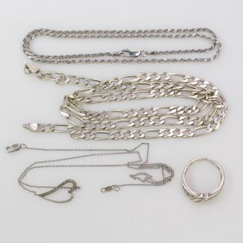38.3g Silver Jewelry, 4 Pieces