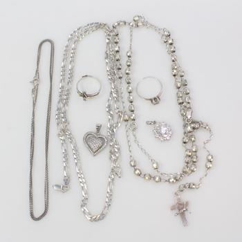 38.50g Silver Jewelry, 7 Pieces