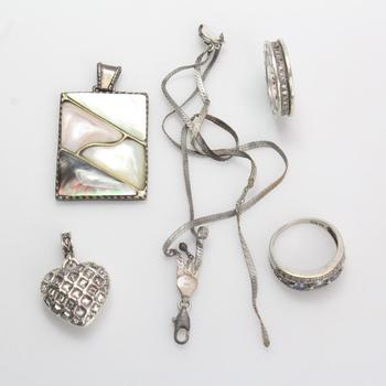 38.61g Silver Jewelry, 5 Pieces