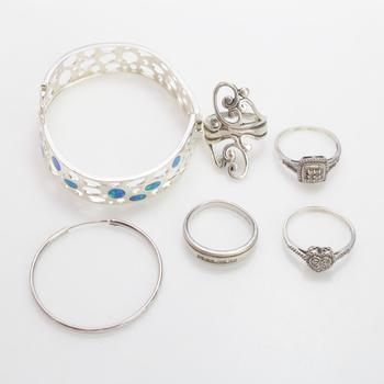 38.94g Silver Jewelry, 6 Pieces