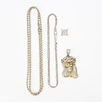 38g Silver Jewelry, 4 Pieces