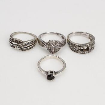 4 Sterling Silver Rings
