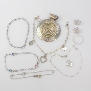 40.5g Silver Jewelry, 10 Pieces