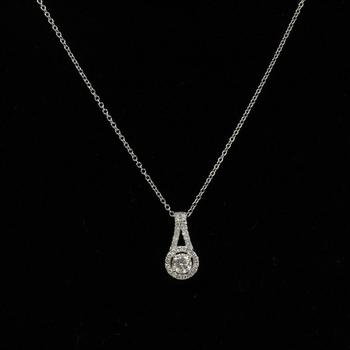 .40ct TW Diamond 14k White Gold Necklace, 2.3g