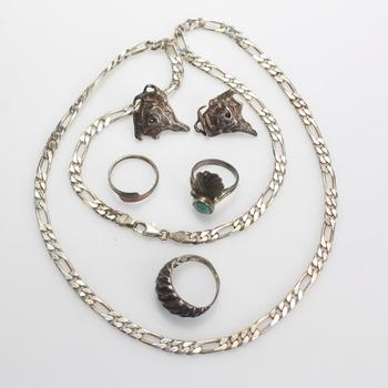41.38g Silver Jewelry, 6 Pieces