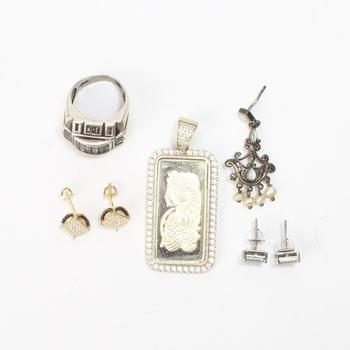 42g Silver Jewelry, 7 Pieces
