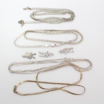 43.07g Silver Jewelry, 7 Pieces