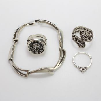 43.44g Silver Jewelry, 4 Pieces