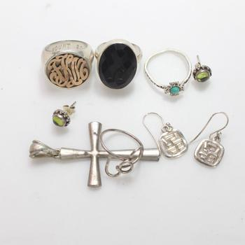 43.50g Silver Jewelry, 9 Pieces