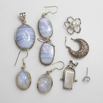 43.5g Silver Jewelry, 9 Pieces