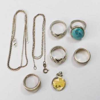 44.33g Silver Jewelry, 8 Pieces