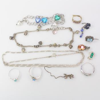 44.55g Silver Jewelry, 12 Pieces