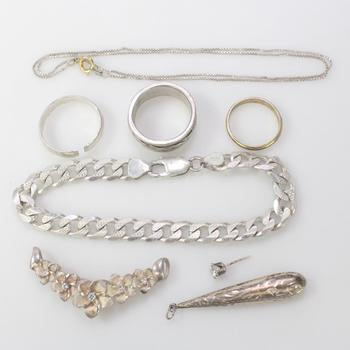 44.55g Silver Jewelry, 8 Pieces
