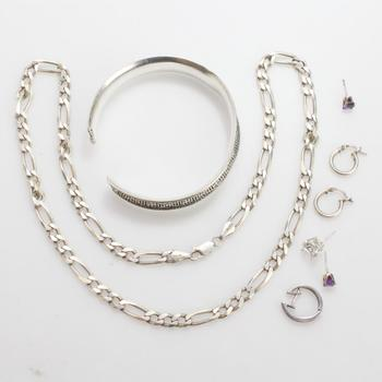 44.58g Silver Jewelry, 8 Pieces