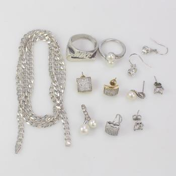 44.73g Silver Jewelry, 12 Pieces