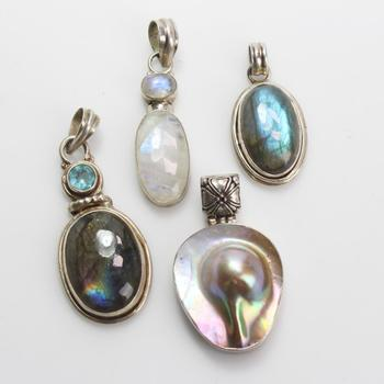 45.58g Silver Jewelry, 4 Pieces