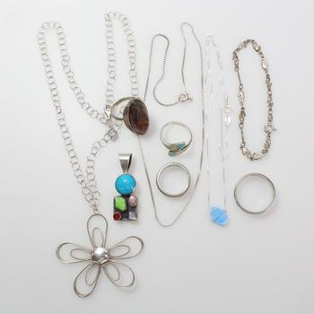 45.78g Silver Jewelry, 9 Pieces