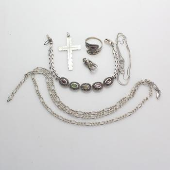 45g Silver Jewelry, 6 Pieces