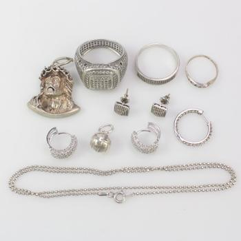 46.16g Silver Jewelry, 11 Pieces