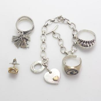 46.46g Silver Jewelry, 5 Pieces