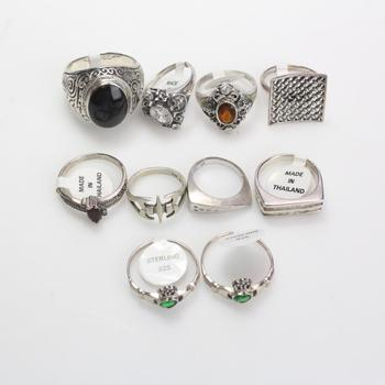 47g Silver Jewelry, 10 Pieces