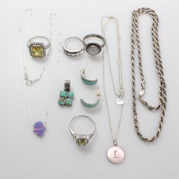 48.09g Silver Jewelry, 10 Pieces