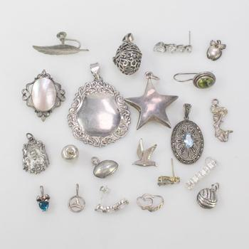 48.53g Silver Jewelry, 21 Pieces