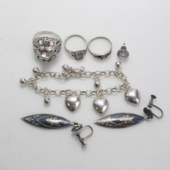48.84g Silver Jewelry, 7 Pieces