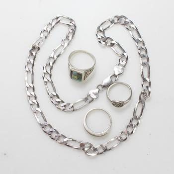 48g Silver Jewelry, 4 Pieces