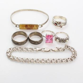 49.92g Silver Jewelry, 7 Pieces