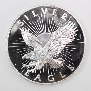5 Troy Oz .999 Silver Sunshine Mint Silver Eagle Round