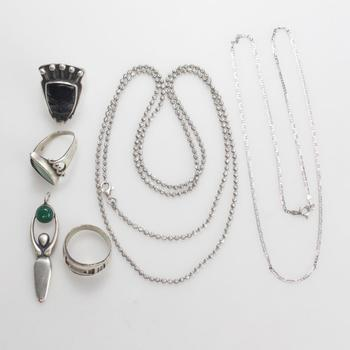 50.02g Silver Jewelry, 6 Pieces