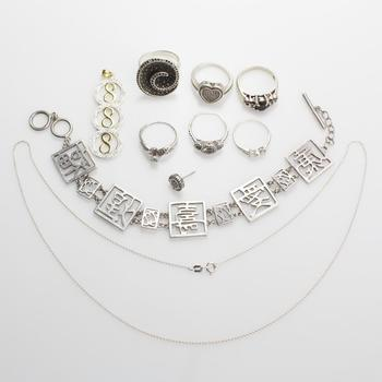 51.95g Silver Jewelry, 10 Pieces