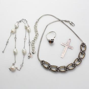 52.85g Silver Jewelry, 4 Pieces