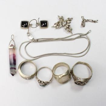 53.31g Silver Jewelry, 10 Pieces