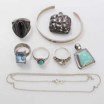 53.36g Silver Jewelry, 8 Pieces