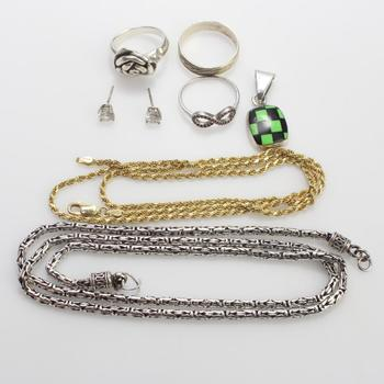 54.01g Silver Jewelry, 8 Pieces