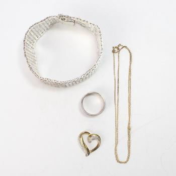 56.66g Silver Jewelry, 4 Pieces