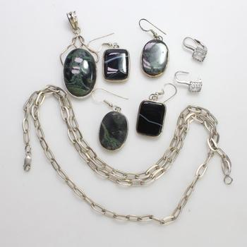 57.00g Silver Jewelry, 8 Pieces