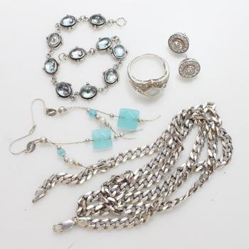 57.5g Silver Jewelry, 7 Pieces