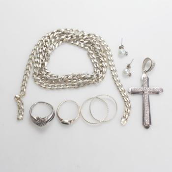 57g Silver Jewelry, 7 Pieces