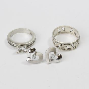 60.3g Silver Jewelry, 4 Pieces