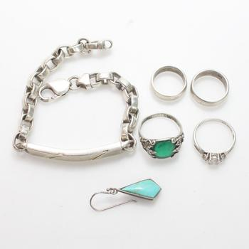 60.55g Silver Jewelry, 6 Pieces