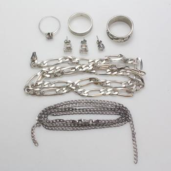 60g Silver Jewelry, 8 Pieces