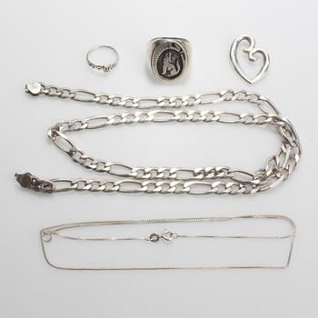 61.84g Silver Jewelry, 5 Pieces