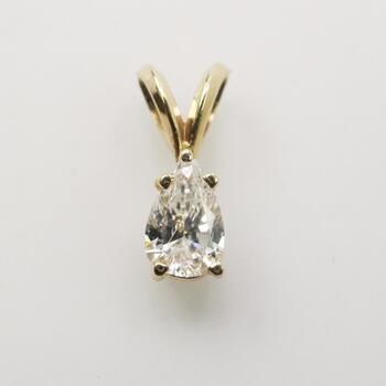 .63ct TW Diamond 14k Gold Pendant