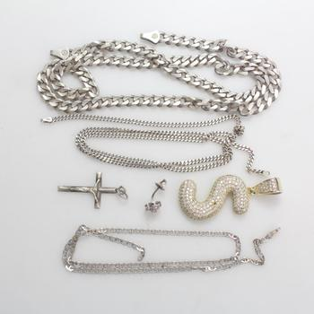 67g Silver Jewelry, 6 Pieces