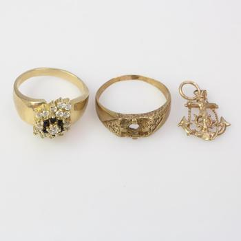6.94g 9k Gold Jewelry, 3 Pieces