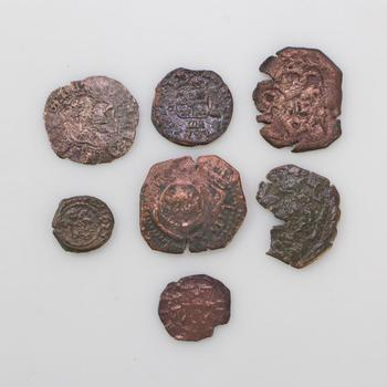 7 Ancient Foreign Copper Coins